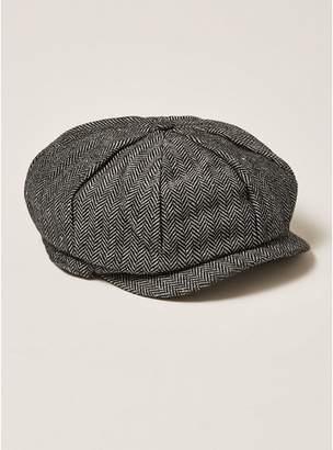 Topman Mens Grey Gray Baker Boy Cap