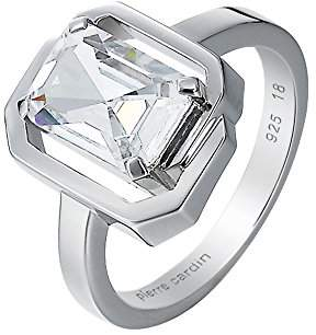 Pierre Cardin Women'S Ring 925 Sterling Silver Rhodium Plated Glass Zirconia Néoclassicisme White Size P / Q (18.1 MM) S.PCRG90402D180