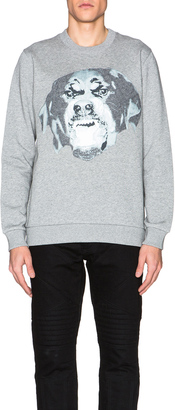 Givenchy Cuban Fit Rottweiler Sweatshirt $990 thestylecure.com