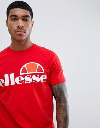 Ellesse T-Shirt With Large Logo In Red