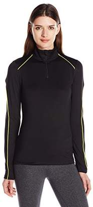 Lark & Ro Women's Active Long Sleeve Quarter-Zip Top