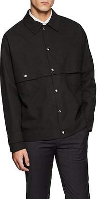 Jil Sander MEN'S NEW JERSEY TECH-PLAIN-WEAVE WORK JACKET