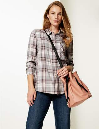 Marks and Spencer Checked Long Sleeve Shirt