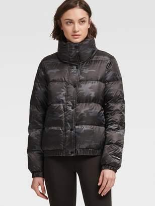 DKNY Camo-Print Down Jacket
