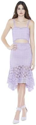 Alice + Olivia Tamika Cutout Handkerchief Dress