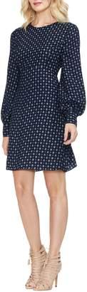 Vince Camuto Geometric Print A-Line Dress