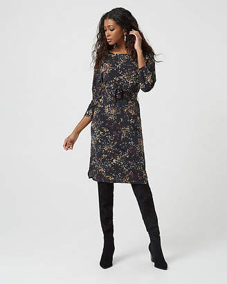 Le Château Floral Print Knit Belted Tunic Dress