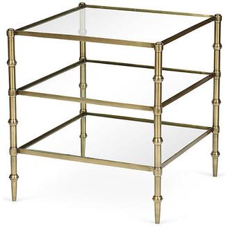 One Kings Lane Kayley 3-Shelf Side Table - Brass