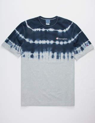 Champion Script Embroidered Dip Dye Mens T-Shirt