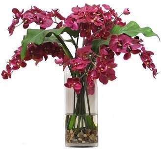 Pottery Barn Faux Phalaenopsis Orchid in Slim Cylinder Vase