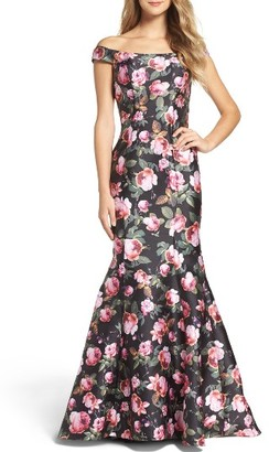 Women's La Femme Off The Shoulder Mermaid Gown $408 thestylecure.com