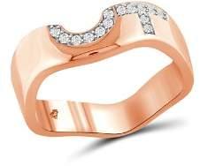 Love and Pride 14K Rose Gold Diamond Female Insignia Ring