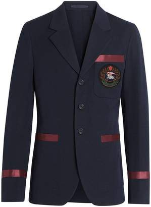 Burberry satin trim blazer