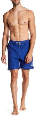 Psycho Bunny Contrast Stitch Solid Swim Trunks