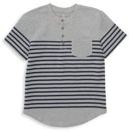 AG Adriano Goldschmied kids Boy's Calix Stripe Pocket Tee