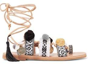 Freya Mabu By Maria Bk Embellished Leather Sandals
