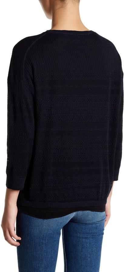 Inhabit Knit Lace Crew Neck Sweater 4