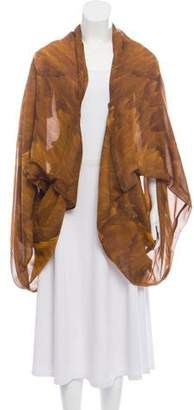 Alexander McQueen Draped Printed Cape