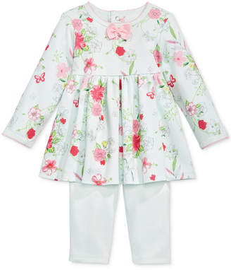 First Impressions Baby Girls 2-Pc. Floral-Print Tunic & Leggings Set