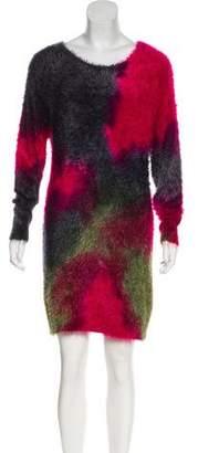 Alberto Makali Shearling Knee-Length Dress
