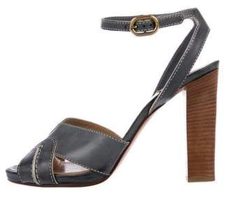 Chloé Leather Ankle-Strap Sandals