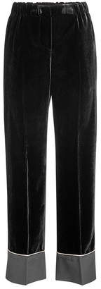 N°21 N21 Velvet Pants with Silk