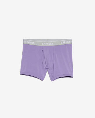 Express Solid Purple Supersoft Boxer Briefs