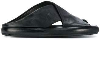 Marsèll nappa crossover sandals