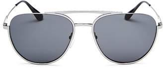 Prada Refined Brow Bar Aviator Sunglasses, 57mm