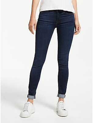 7 For All Mankind Skinny Slim Illusion Jeans, Indigo Midnight Sky