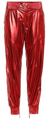 Isabel Marant Aruso metallic silk trousers