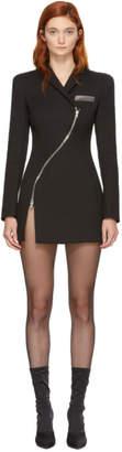 Alexander Wang Black Tailored Curved Zipper Overcoat Dress