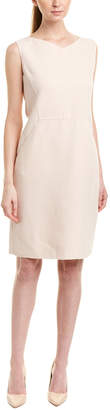 Oscar de la Renta Silk-Lined Wool Shift Dress