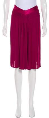 Alberta Ferretti Knee-Length Pleated Skirt