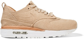 Nike - Nikelab Air Max 1 Royal Faux Suede And Leather Sneakers - Beige $250 thestylecure.com