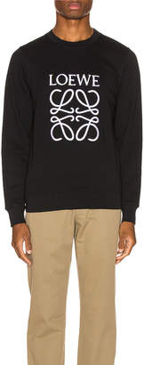 Loewe Anagram Sweatshirt in Black | FWRD