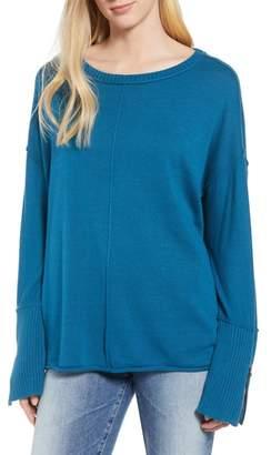 Caslon Zip Cuff Sweater