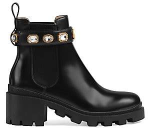 Gucci Women's Trip Bootie with Jewels