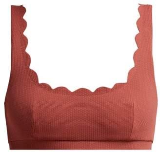 Marysia Swim Palm Springs Scalloped Bikini Top - Womens - Dark Pink