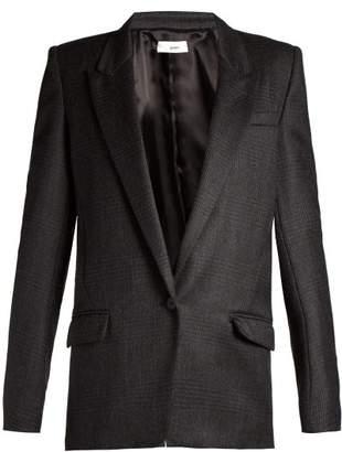 Etoile Isabel Marant Igora Prince Of Wales Checked Blazer - Womens - Dark Grey