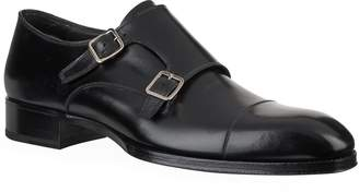 Tom Ford Leather Double Monk Shoes
