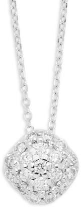KC Designs Women's Diamonds & 14K White Gold Pave Cushion Pendant Necklace