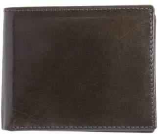 Johnston & Murphy Flip Billfold Leather Wallet