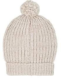 Barneys New York Women's Chunky Rib-Knit Wool-Blend Beanie-White