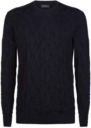 Emporio Armani Jacquard Knit Eagle Sweater