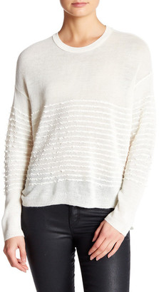 Inhabit Crew Neck Long Sleeve Ruffle Sweater $372 thestylecure.com