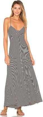 Mara Hoffman Drop Waist Midi Dress in Black $225 thestylecure.com