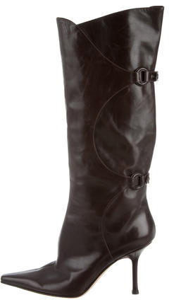 Jimmy Choo Jimmy Choo Leather Knee-High Boots