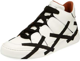 Ermenegildo Zegna Tiziano Men's High-Top Leather Sneakers