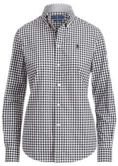 Ralph Lauren Slim Fit Gingham Poplin Shirt Black Check 2